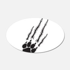 Bear Paw Rip Wall Decal