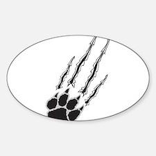 Bear Paw Rip Sticker (Oval)