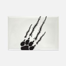 Bear Paw Rip Rectangle Magnet (100 pack)
