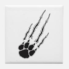 Bear Paw Rip Tile Coaster