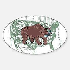 American Bear Sticker (Oval)