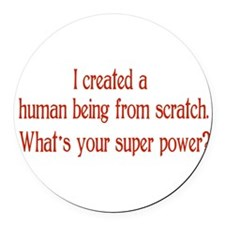 What's Your Super Power Round Car Magnet