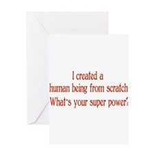 What's Your Super Power Greeting Card