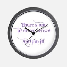 One In Every Crowd Wall Clock