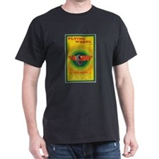 Flying Wheel Firecracker Label T-Shirt
