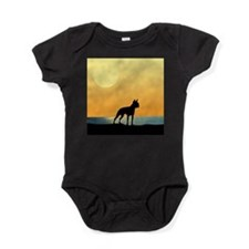 Boston Terrier Surfside Sunset Baby Bodysuit