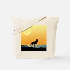 Boston Terrier Surfside Sunset Tote Bag