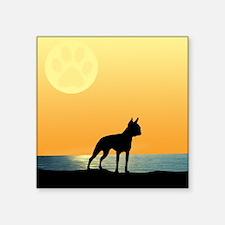 Boston Terrier Surfside Sunset Sticker