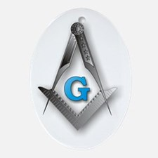 Masonic Square and Compass Ornament (Oval)