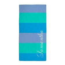 Cool Ocean Stripes Beach Towel