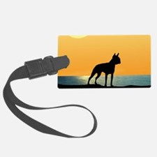 Boston Terrier Surfside Sunset Luggage Tag