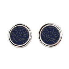 Brain Lyrics Round Cufflinks