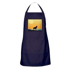 Boston Terrier Surfside Sunset Apron (dark)