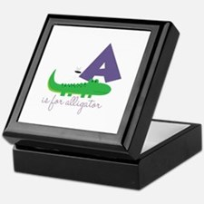 A Is For Alligator Keepsake Box