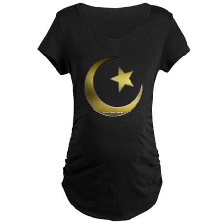 Gold Star and Crescent Maternity Dark T-Shirt
