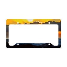 Evening Glass surfer License Plate Holder