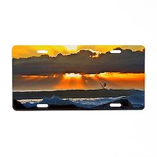 Evening Glass surfer Aluminum License Plate