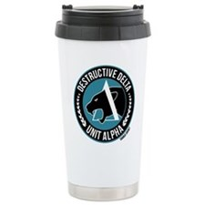 Destructive Delta logo Travel Mug