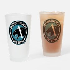 Destructive Delta logo Drinking Glass