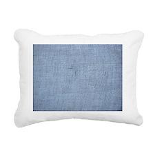White linen Rectangular Canvas Pillow