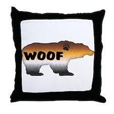 FURRY PRIDE BEAR/WOOF Throw Pillow