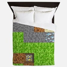 Pixel Art Play Mat Queen Duvet
