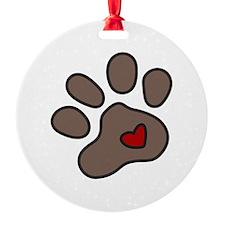 Puppy Paw Ornament