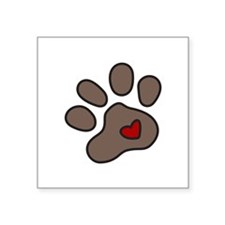 Puppy Paw Sticker