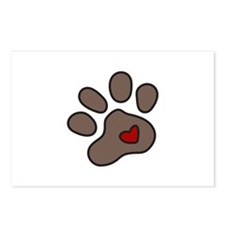 Puppy Paw Postcards (Package of 8)
