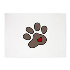 Puppy Paw 5'x7'Area Rug