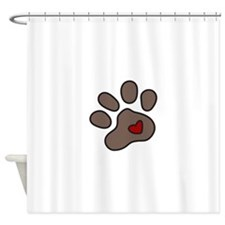 Puppy Paw Shower Curtain