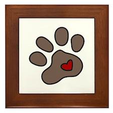 Puppy Paw Framed Tile