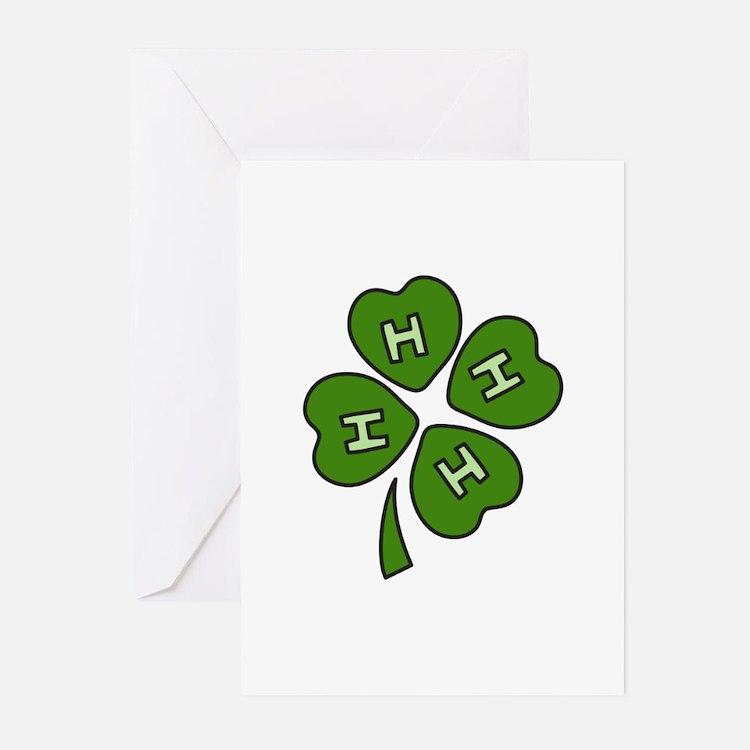 Four H Club Greeting Cards