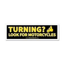 Turning Left? Look for Motorcycl Car Magnet 10 x 3