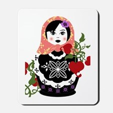 Nesting Doll In Flowers Mousepad
