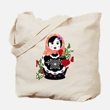 Nesting Doll In Flowers Tote Bag