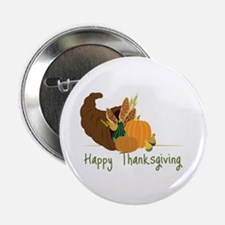 """Happy Thanksgiving 2.25"""" Button (10 pack)"""
