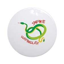Snake Wrangler Ornament (Round)