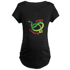 Snake Wrangler Maternity T-Shirt