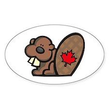Canada Beaver Oval Bumper Stickers