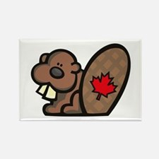 Canada Beaver Rectangle Magnet (100 pack)