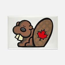 Canada Beaver Rectangle Magnet