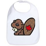 Canada beaver Cotton Bibs