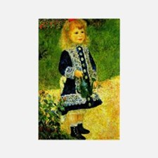 Renoir - A Girl with a Watering C Rectangle Magnet