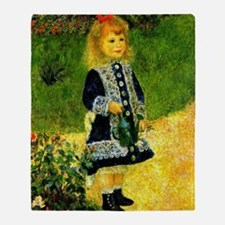 Renoir - A Girl with a Watering Can Throw Blanket
