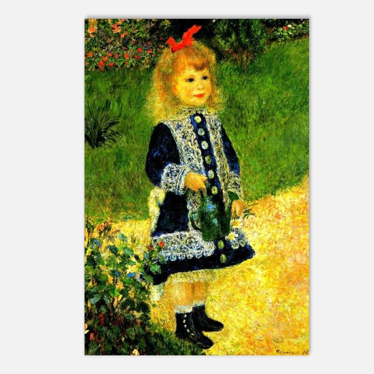 Renoir - A Girl with a Wa Postcards (Package of 8)