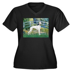 Bridge & Whippet Women's Plus Size V-Neck Dark T-S