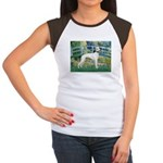 Bridge & Whippet Women's Cap Sleeve T-Shirt