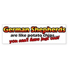 Potato Chips German Shepherd Bumper Bumper Sticker