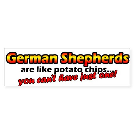 Potato Chips German Shepherd Bumper Sticker